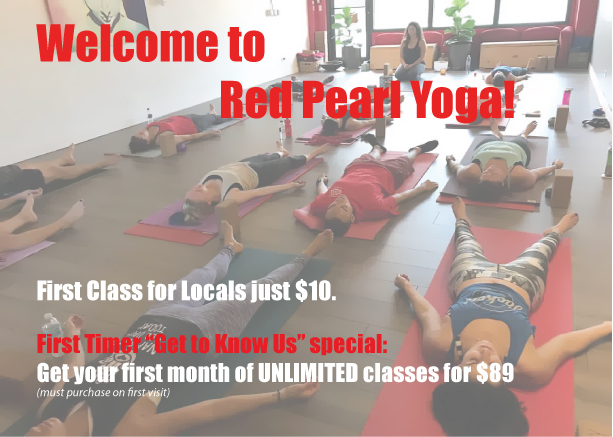 red pearl yoga, fort lauderdale, yoga, beginner yoga, introductory offer, flagler village